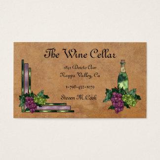 Cartes De Visite Vin ou raisins