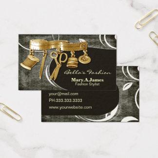 cartes de visite vintages de couturière de couture