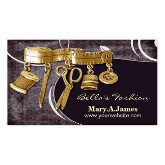 cartes de visite vintages de couturière de couture carte de visite standard