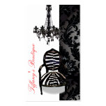 Cartes de visite vintages de luxe de boutique de l cartes de visite professionnelles
