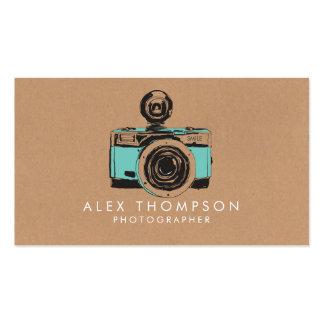 Cartes de visite vintages de photographe modèle de carte de visite