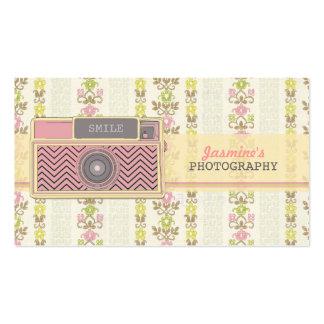 Cartes de visite vintages de photographie d'appare cartes de visite personnelles