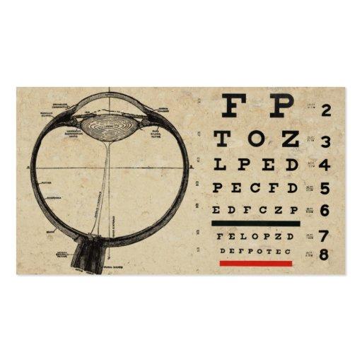 Cartes de visite vintages d'Ophthamologist Cartes De Visite Professionnelles