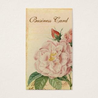 Cartes de visite vintages français de rose de rose