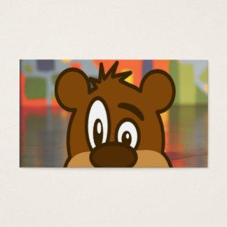 Cartes De Visite Visage d'ours de Brown