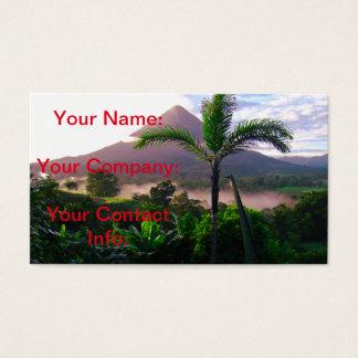 Cartes De Visite Volcan dans les tropiques