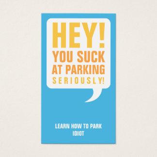 Cartes De Visite Vous sucez au stationnement