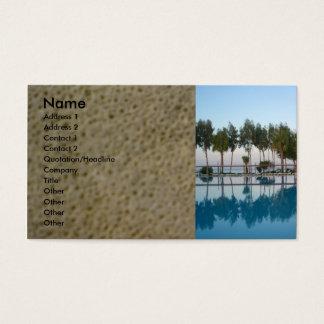 Cartes De Visite Vue de piscine