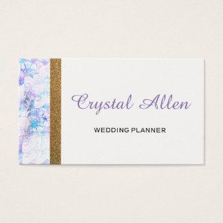 Cartes De Visite Wedding planner floral de parties scintillantes