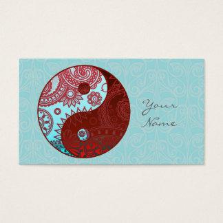 Cartes De Visite Yin modelé ID325 rouge et bleu de Yang