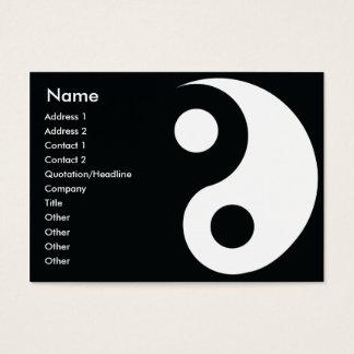 Cartes De Visite Yin Yang - potelé