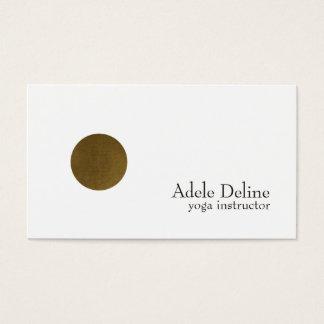 Cartes De Visite Yoga de cuivre blanc propre minimaliste de cercle