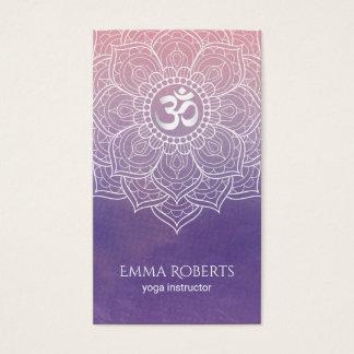 Cartes De Visite Yoga de Namaste de mandala de Lotus d'aquarelle