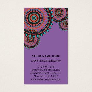 Cartes De Visite Yoga élégant de logo de fleur de Lotus