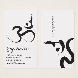 Cartes De Visite Zen d'ohm de l'OM de symbole de logo de noir de