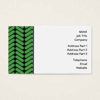 Cartes De Visite Zigzags de vert vert inspirés par le tricotage