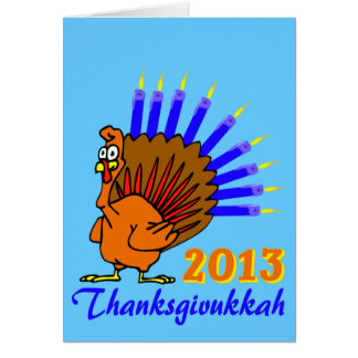 Cartes de voeux 2013 de Thanksgivukkah Menurkey