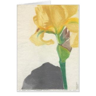 """Cartes de voeux avec """"l'iris jaune"""" par Larsen"""