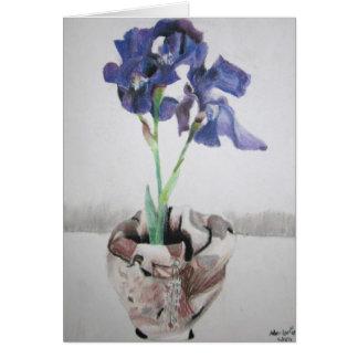 """Cartes de voeux avec """"l'iris pourpre"""" par Larsen"""
