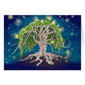 Cartes de voeux cosmiques d'arbre