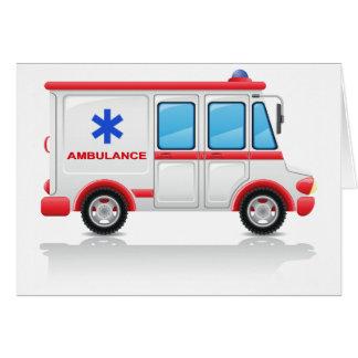 Cartes de voeux d'ambulance