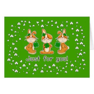 Cartes de voeux d'amusement du jour de St Patrick