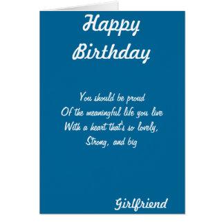Cartes de voeux d'anniversaire d'amie