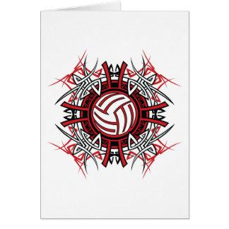 Cartes de voeux d'art de volleyball