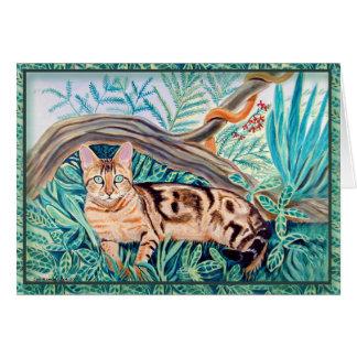 Cartes de voeux de chat du Bengale
