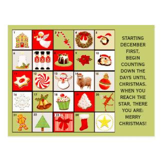 Cartes de voeux de compte à rebours de Noël