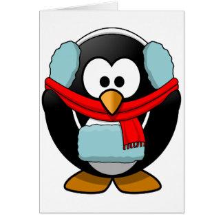 Cartes de voeux de congélation de pingouin