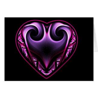 Cartes de voeux de fractale de coeur de Taureau