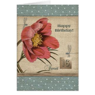 Cartes de voeux de joyeux anniversaire de sweet