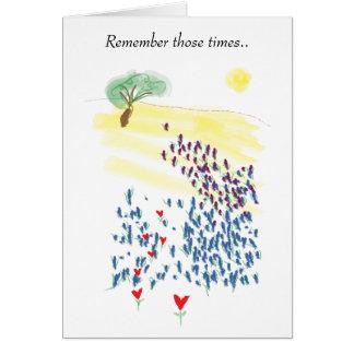 Cartes de voeux de la mémoire du ciel