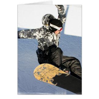 Cartes de voeux de lancement de surf des neiges