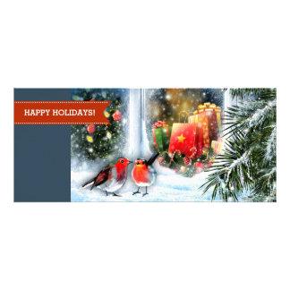 Cartes de voeux de Noël de peinture de scène de Cartons D'invitation