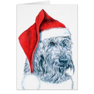 Cartes de voeux de Père Noël Labradoodle