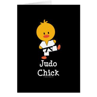 Cartes de voeux de poussin de judo