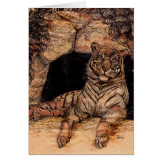 Cartes de voeux de repaire de tigre