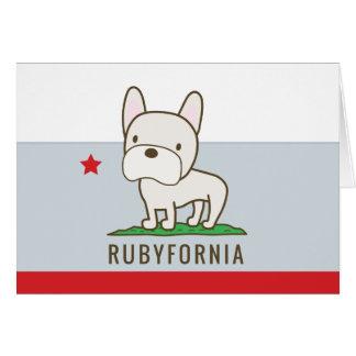 Cartes de voeux de Rubyfornia avec les graphiques