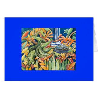 Cartes de voeux de temps d'alligator