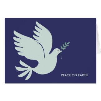 Cartes de voeux de vacances de colombe de paix