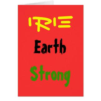 Cartes de voeux d'earthstrong de Rasta