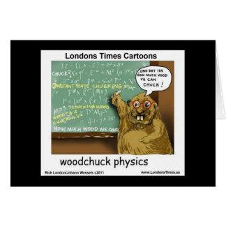 Cartes de voeux drôles de physique de marmotte