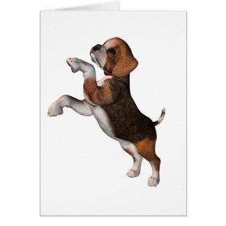 Cartes de voeux espiègles de beagle