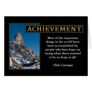 Cartes de voeux inspirées d'accomplissement