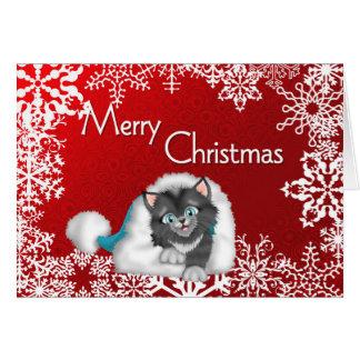 Cartes de voeux mignonnes de Kitty de Joyeux Noël