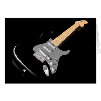 Cartes de voeux noires de guitare électrique