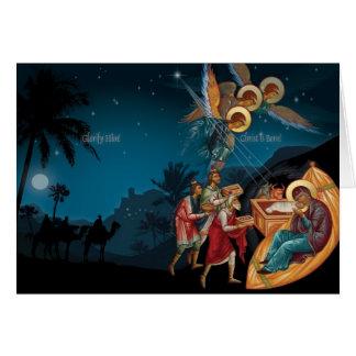 Cartes de voeux orthodoxes russes de Noël de
