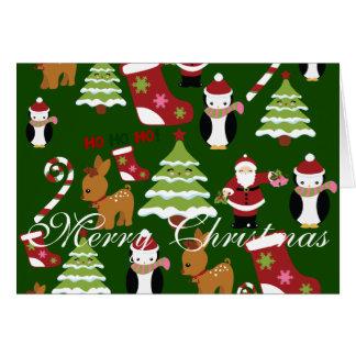 Cartes de voeux pliées de Noël de Joyeux Noël